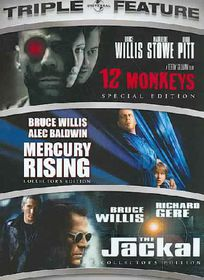 12 Monkeys/Mercury Rising/Jackal - (Region 1 Import DVD)