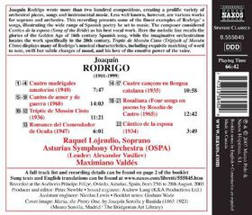Rodrigo: Songs And Madrigals - Songs And Madrigals (CD)