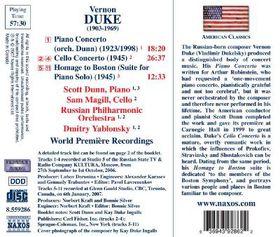Duke:Piano Cto Cello Cto Homage to Bo - (Import CD)