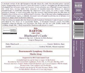 Bartok: Bluebeards Castle - Bluebeard's Castle (CD)