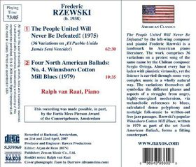 Van Raat, Ralph - The People United Will Never Be Defeated (CD)