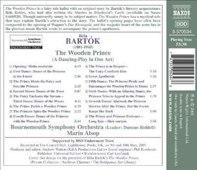 Bartok: The Wooden Prince - The Wooden Prince (CD)