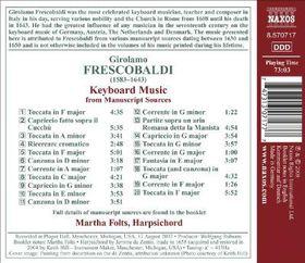 Frescobaldi: Manuscript Scores - Keyboard Music From Manuscript Scores (CD)