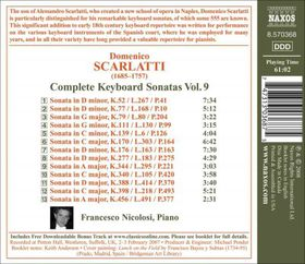 Scarlatti: Sonatas Vol 9 - Keyboard Sonatas - Vol.9 (CD)