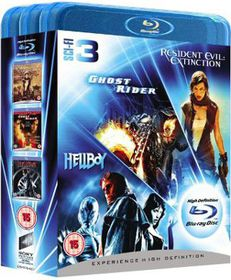 Ghost Rider/Resident Evil: Extinction/Hellboy - (Import Blu-ray Disc)