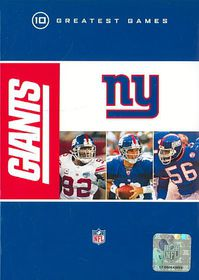 Nfl New York Giants 10 Greatest Games - (Region 1 Import DVD)