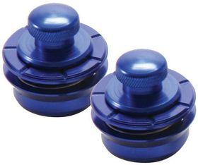 On Stage NSL7300BL Hennessey Metallics Series Guitar Strap Locks - Blue