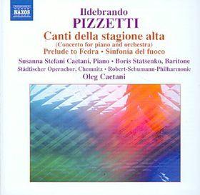 Pizetti: Canti Della Stagione - Canti Della Stagione (CD)