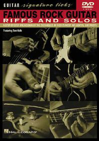Famous Rock Guitar Riffs and Solos - (Region 1 Import DVD)