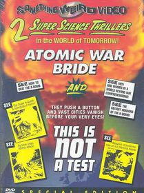 Atomic War Bride/This is Not a Test - (Region 1 Import DVD)