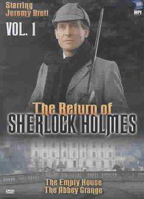 Return of Sherlock Holmes - Vol. 1: The Empty House & The Abbey Grange - (Region 1 Import DVD)