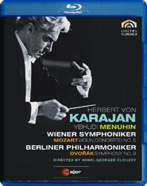 Mozart/Dvorak: Violin Concerto No.5/Symphony No.9 (Karajan) - (Import DVD)