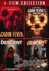 Cabin Fever/Cabin Fever 2/Descent/Descent 2- (Region 1 Import DVD)
