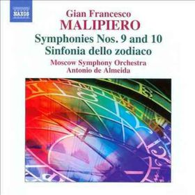 Malipiero: Symphonies Vol 5 - Symphonies Nos.9 & 10 / Sinfonia Dello Zodiaco (CD)