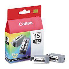 Canon BCI-15 Black Ink Cartridge Twinpack