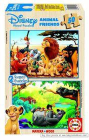 Educa - Disney Animal Friends Wooden Puzzles - 2x50 Piece