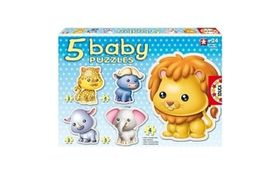 Educa - Baby Wild Animals Puzzles - 24 Pieces - 5 Assorted