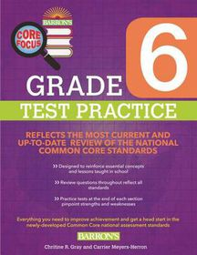 Grade 6 Test Practice for Common Core