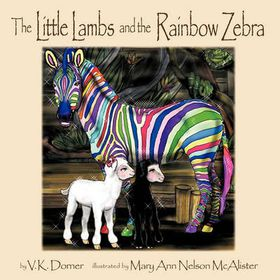 The Little Lambs and the Rainbow Zebra