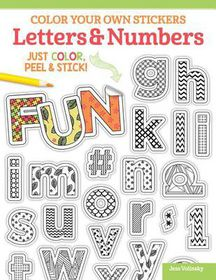 Color Your Own Stickers Letters Amp Numbers Buy Online In