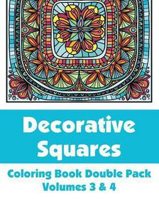 Decorative Squares Coloring Book Double Pack (Volumes 3 & 4)
