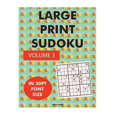 Large Print Sudoku Volume 3 Buy Online In South Africa Takealot