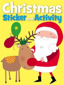 Christmas Sticker Activity - Rudolph's Red Nose
